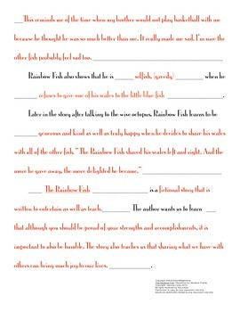 Response to Literature with Sentence Frames 3