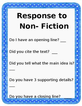 Response to Non-Fiction