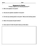 Response to Poetry Worksheet