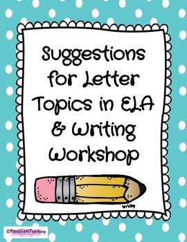 Response to Reading Letter Topics