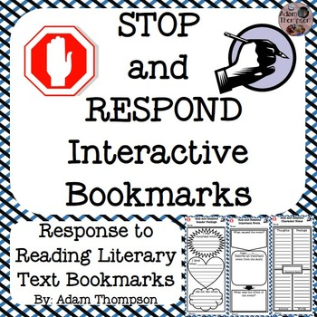 Reading Response Interactive Bookmarks: Literary Text