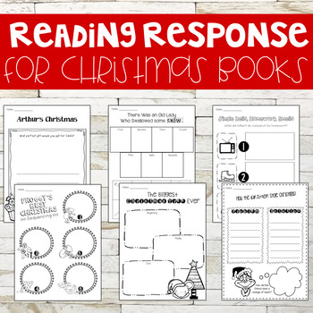 Response to Reading Sheets with Christmas Books