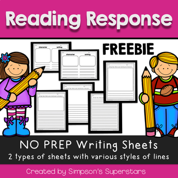 Response to Reading Writing Paper FREEBIE
