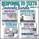 Response to Text Journals Bundle {Reading Strategies} Home Packet