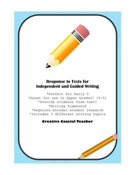 Response to Text Opinion Writing for Common Core