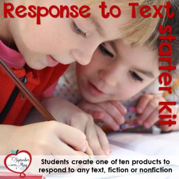Response to Text Starter Kit