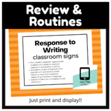 Response to Writing Posters