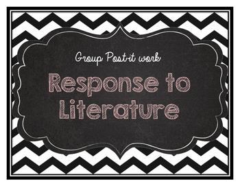 Response to literature post it sheet