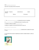 Responses of living things test