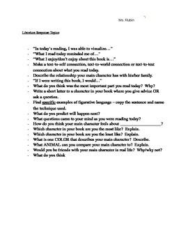 Responses to Literature