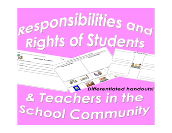 Responsibilities and Rights for Students and Teachers in the Classroom