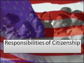 Responsibilities of Citizenship PowerPoint & Lesson Plan Bundle