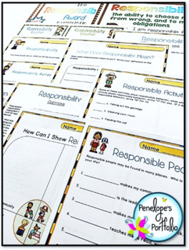 RESPONSIBILITY Character Education Packet