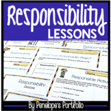 Character Education RESPONSIBILITY Lessons and Worksheets