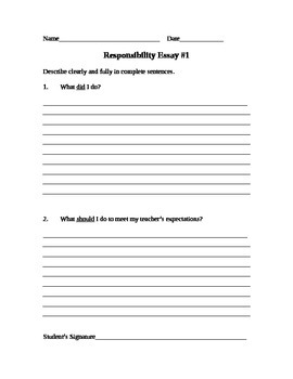 Responsibility Assignment #1