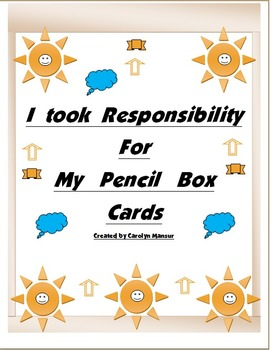 Responsibility Cards for Pencil Box and More!