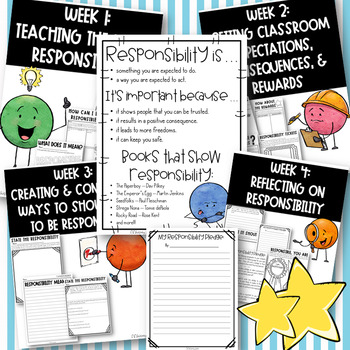 Responsibility - Character Counts Monthly Lesson Packet