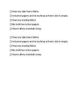 Responsibility Checklist