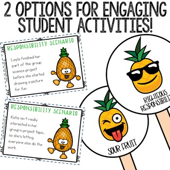Responsibility Classroom Guidance Lesson for School Counseling Pineapple