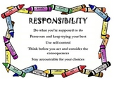 Responsibility Classroom Poster