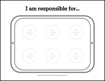 """Responsibility Cupcakes - Girl Scout Daisies - """"Mari - Orange Petal"""" Pk (Step 3)"""