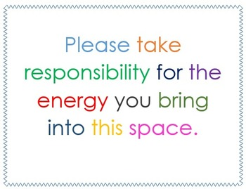Responsibility & Energy Quote Poster