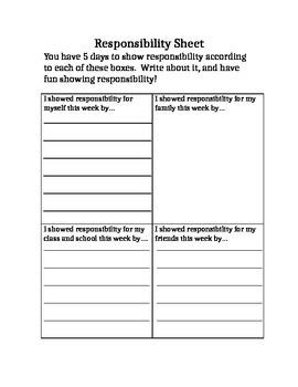 Responsibility Homework Practice