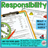 Responsibility Morning Meeting Activities Print with Googl