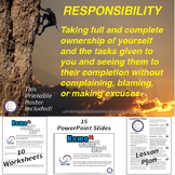 Responsibility Lesson and PowerPoint