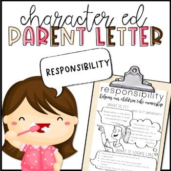 Responsibility Parent Letter