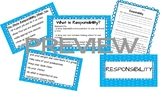 Responsibility Posters and Worksheet