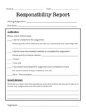 Responsibility Report - missing assignment form