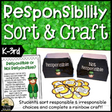 Responsibility Sorting Activity & Craft St. Patrick's Day