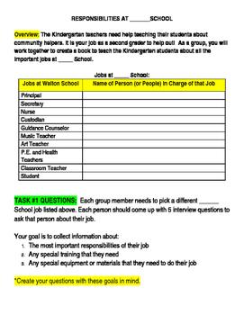 Responsibility Theme School Helpers Enrichment Project