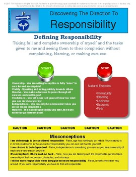 Responsibility Workbook Pages