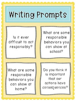 Responsibility: Writing Prompts, Quotes, and Suggested Book Pairings