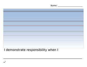 Responsibility Writing Template
