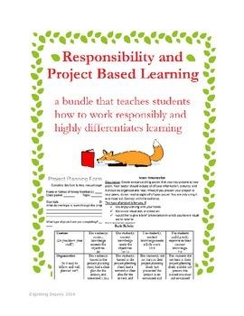 Responsibility and Project Based Learning Bundle