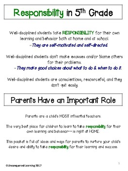 Responsibility in 5th Grade: A Guide for Parents