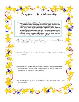 Responsibility in Tuck Everlasting Lesson Plan & Materials