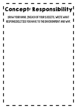 Responsibility in my hand - Environmental Responsibility activity