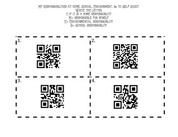 Responsibility or Chore QR Scoot