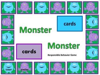 Responsible Behavior Monster Game
