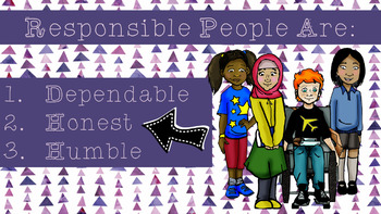 Responsible Kids are Dependable, Honest & Humble: 3-5