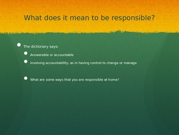 Responsible Learning PPT