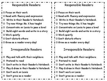 Responsible Readers vs. Irresponsible Readers