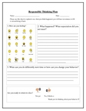Responsible Thinking Plan / Reflection sheet / Behavior sheet