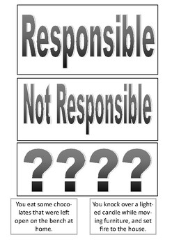 Responsible or Not Responsible