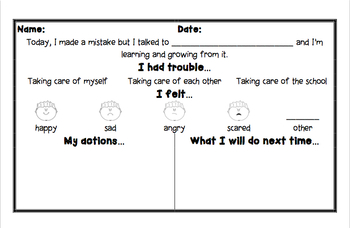 Responsive Behavior Chart