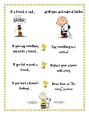 Responsive Classroom: Apologizing and Making it Better Poster: Peanuts Theme